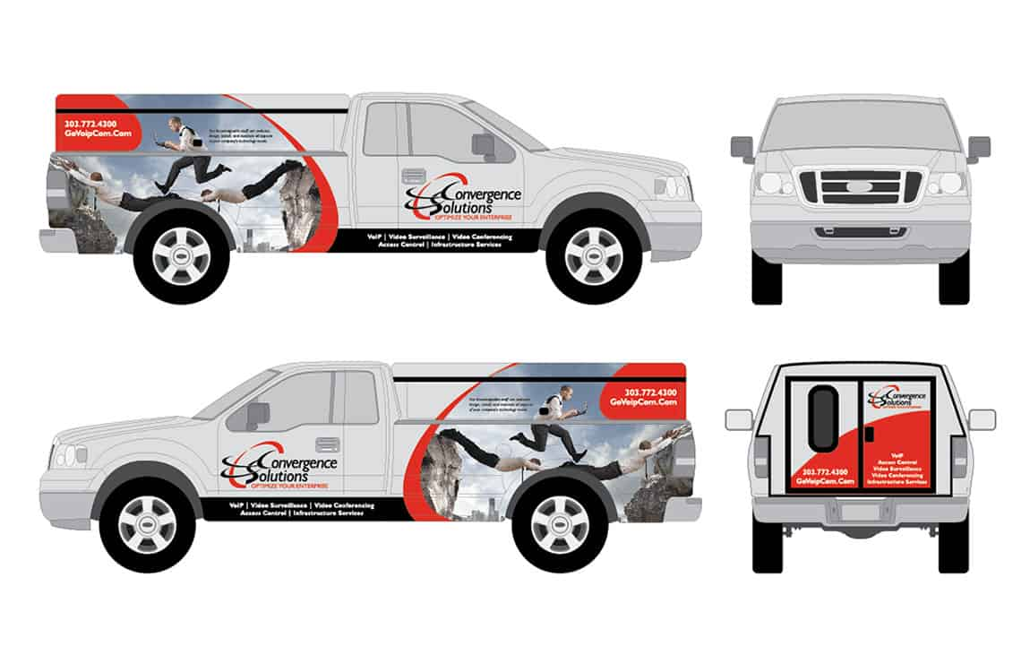 Convergence Solutions- truck wrap